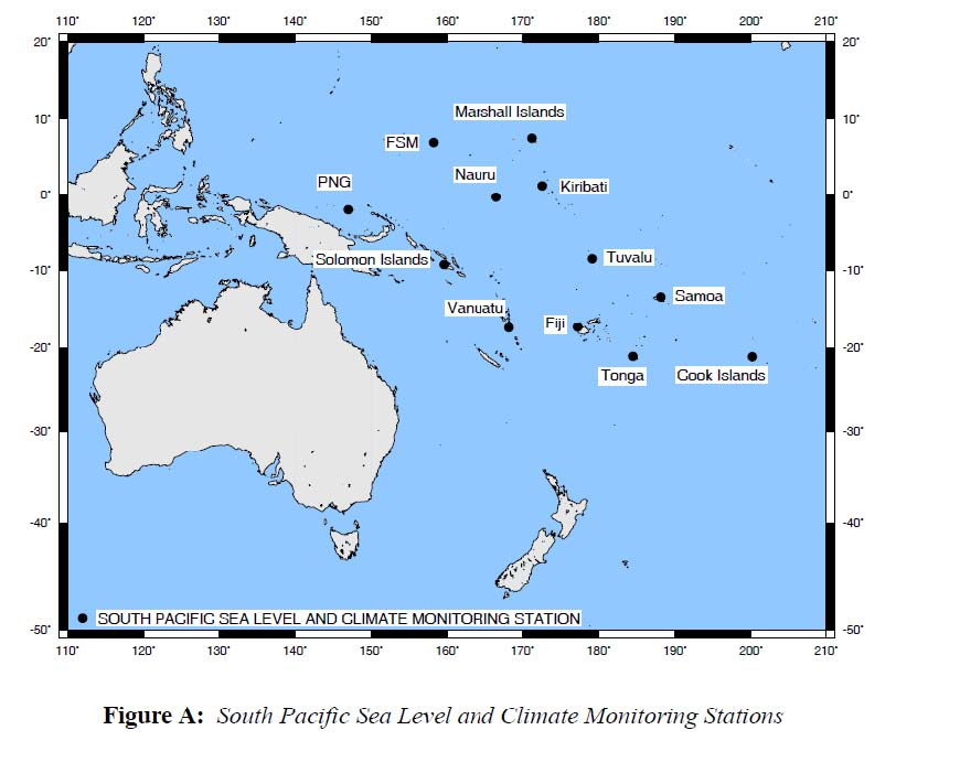 South Pacific Sea Levels Best Records Show Little Or No Rise - West pacific islands map 1998