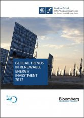 Cover, Global Trends in Renewable energy, World Bank Report