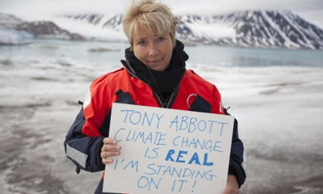 Intellectually Challenged Emma Thompson (actress) recites Greenpeace hymn specially for Australian PM