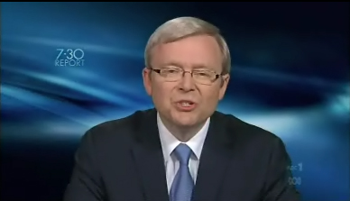 Kevin Rudd, 7.30 report May 10, 2010