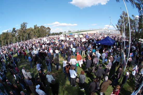 Canberra Protest against the Carbon Tax August 2011