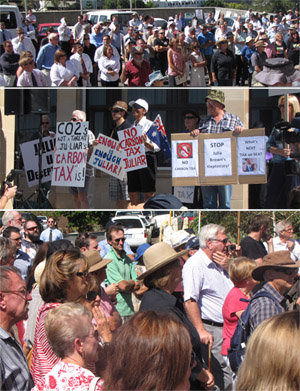Perth Protest Anti Carbon Tax Rally