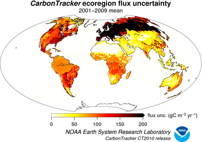 carbon tracker NOAA uncertainties