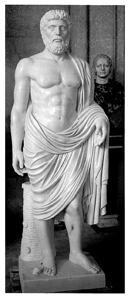 Roman Statue's aren't dressed for cold weather