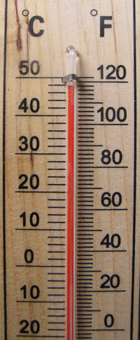 Thermometer Farenheit Celcius scale