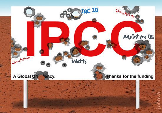 IPCC logo shot to pieces