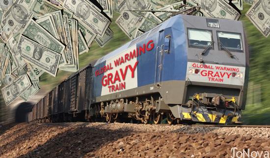 Climate Gravy Train, photo.